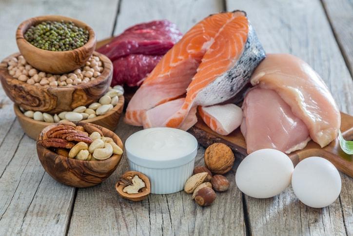 Alimentos que contém glutamina em geral, são os que possuem mais proteína